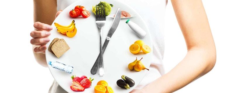 clock-shaped plate