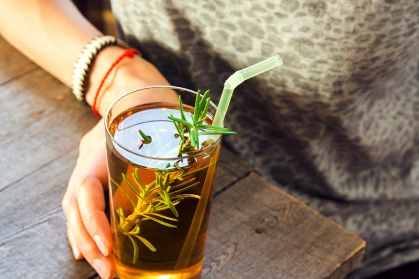 kombucha tea drinking