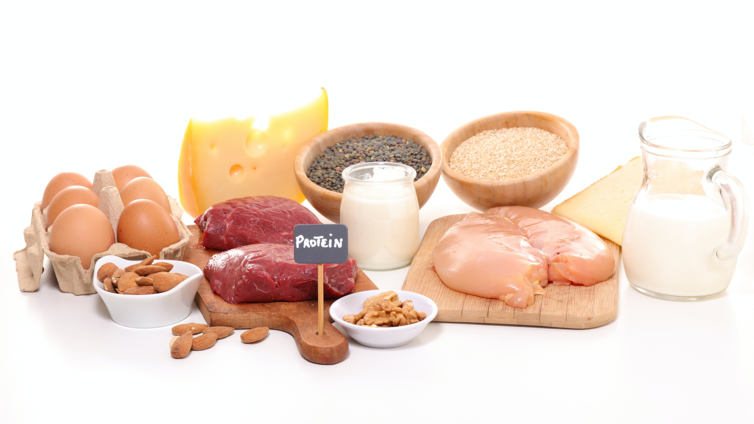 protein in healthy eating plate